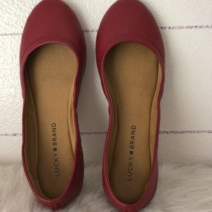 Lucky Brand shoes/Flats. Maroon color.  Size 7